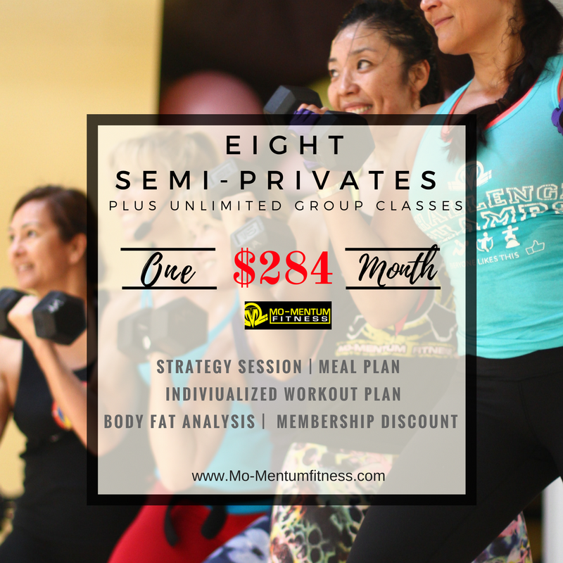 Semi-Private Training Special ends 3/31